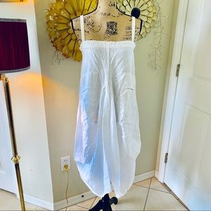 Tempo Paris white linen bubble dress